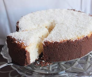 cake, food, and coconut image