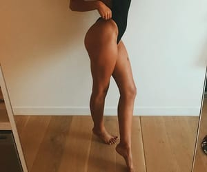 fitness, model, and tan image