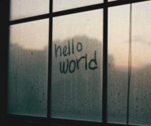 hello, world, and window image