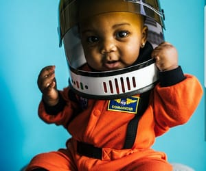 astronauts, baby, and black girl image