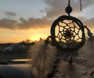 dream catcher, hope, and por do sol image