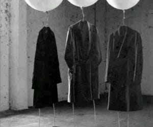 balloons, black and white, and photography image