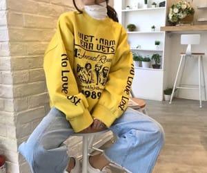 fashion, asian, and yellow image