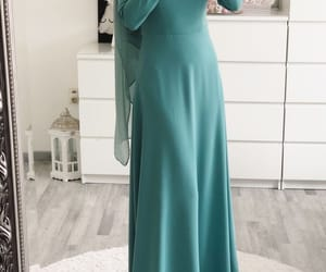 fashion, hijab, and long dress image
