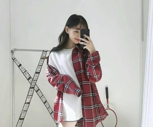 bangs, fashion, and outfit image