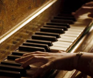 dress, nature, and piano image