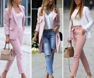 dressy pants and pastel blush outfits image