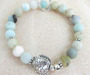 amazonite bracelet and sea turtle jewelry image