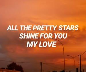 aesthetic, Lyrics, and stars image
