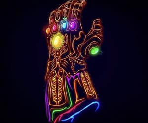Avengers, Marvel, and neon image