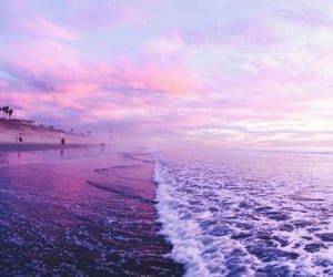 beach, sea, and purple image