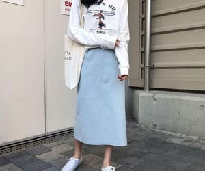 asian, long, and blue image