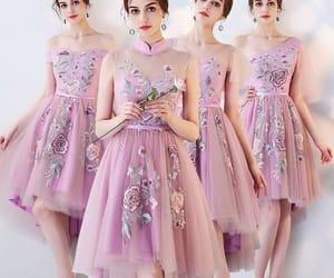 girl, lilac dress, and asymmetrical dress image