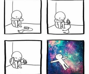 music, galaxy, and sad image
