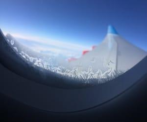flight, plane, and winter image