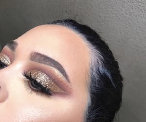 eyebrows, glitter, and highlight image