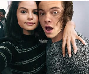 selena gomez, Harry Styles, and harlena image