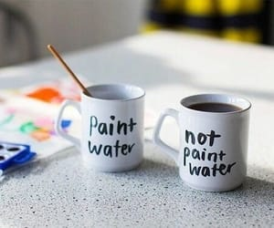 paint, art, and coffee image