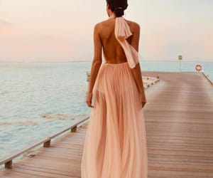 fashion, dress, and beach image