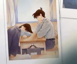 detective conan, ran mouri, and kudo shinichi image