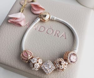 pandora, pink, and accessories image
