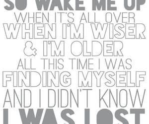 wake me up, avicii, and Lyrics image