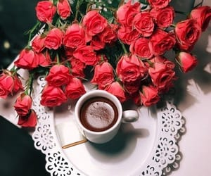coffee, power, and roses image