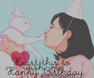 birthday, cat, and girl image