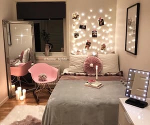 lights, grey, and pink image
