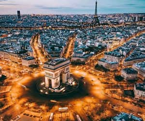 france, night, and paris image