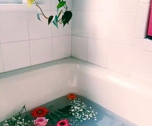 flowers, bath, and aesthetic image
