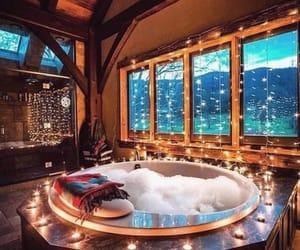 lights, winter, and luxury image