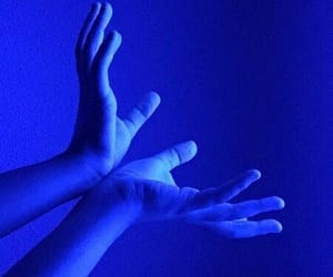 blue and hands image