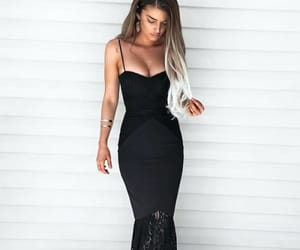 black dress, fashion, and dress image