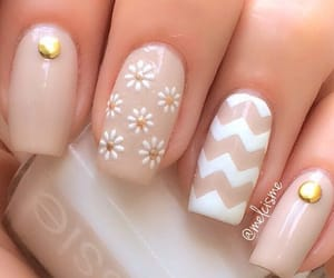 spring nails, rock with your nails, and cute and casual image