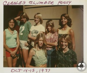 girl, vintage, and 70s image