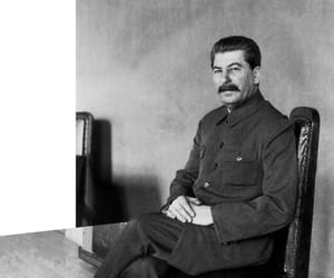 black and white, stalin, and communism image