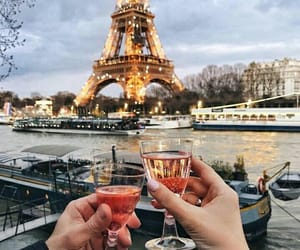paris, love, and boat image