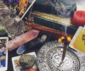 books, crystals, and magick image