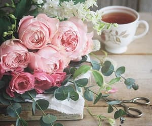 coffee, tea, and flower image