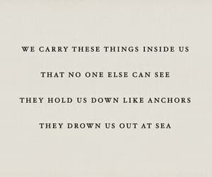 quotes, sad, and sea image