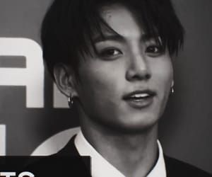 b&w, bts, and jungkook image