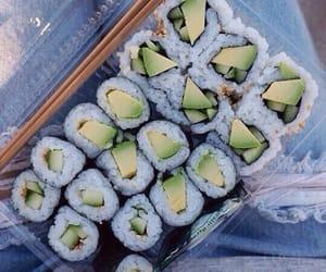 food, sushi, and vegan image