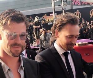 chris hemsworth, tom hiddleston, and hiddlesworth image