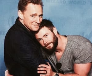 chris hemsworth, tom hiddleston, and thor image