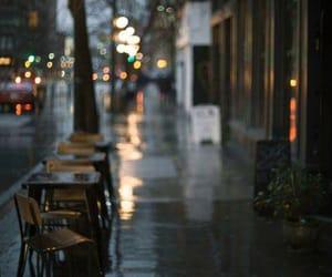 rain, silence, and empty street image