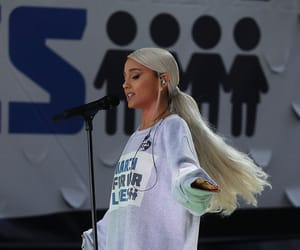ariana grande, march for our lives, and ariana image