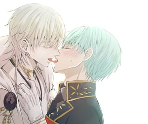 anime, boy, and kiss image
