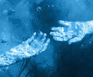blue, hands, and water image