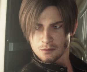 gif, leon kennedy, and game image
